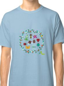 Funny insects circle Classic T-Shirt