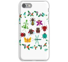 Funny insects circle iPhone Case/Skin