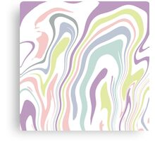 Marble pattern in pastel colors Canvas Print
