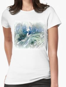 Blues and Greens Abstract..... Womens Fitted T-Shirt
