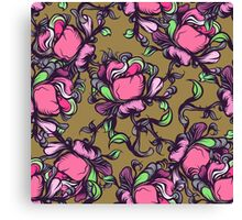 Wilde rose seamless pattern. Canvas Print
