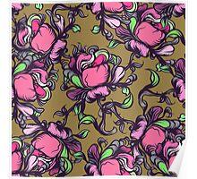 Wilde rose seamless pattern. Poster