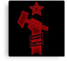 Raised Fist of Protest - Working Class Canvas Print