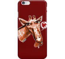 cartoon style lovely giraffe orange iPhone Case/Skin