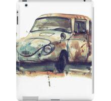 Retro car watercolor drawing. iPad Case/Skin