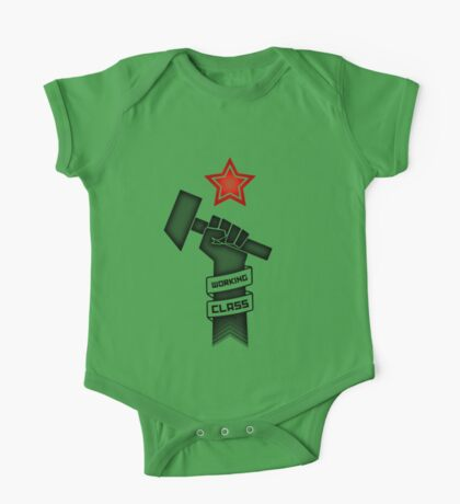 Raised Fist of Protest - Working Class One Piece - Short Sleeve