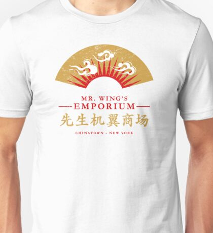 Mr. Wing's Emporium (aged look) Unisex T-Shirt