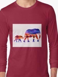 Elephant  Sunset  Silhouette  Long Sleeve T-Shirt