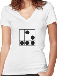 """The Glider: """"A Universal Hacker Emblem"""" - Jargon File Women's Fitted V-Neck T-Shirt"""