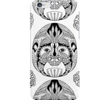Gorilla ink drawn zen art pattern iPhone Case/Skin