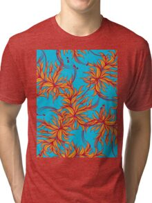 Abstract floral seamless pattern Tri-blend T-Shirt