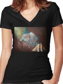 Merlin'ambition Women's Fitted V-Neck T-Shirt