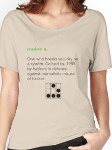 Cracker Definition via Jargon File Women's Relaxed Fit T-Shirt