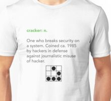 Cracker Definition via Jargon File Unisex T-Shirt