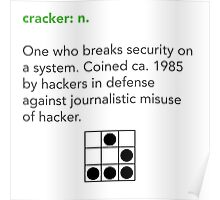Cracker Definition via Jargon File Poster