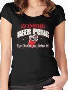 zombie pong Women's Fitted Scoop T-Shirt