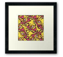 Hand drawn floral seamless pattern Framed Print