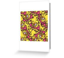 Hand drawn floral seamless pattern Greeting Card