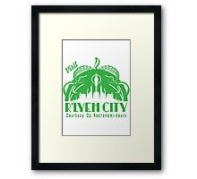 Visit R'lyeh City Framed Print
