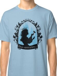 Beautiful  princess silhouette with singing bird Classic T-Shirt