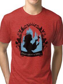 Beautiful  princess silhouette with singing bird Tri-blend T-Shirt