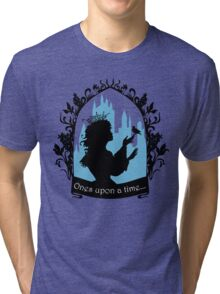 Beautiful  princess silhouette with singing bird Tri-blend T-Shirt