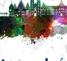 Wroclaw skyline in watercolor Sticker