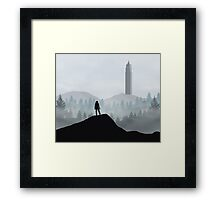 The 100 - Flat Landscape Framed Print