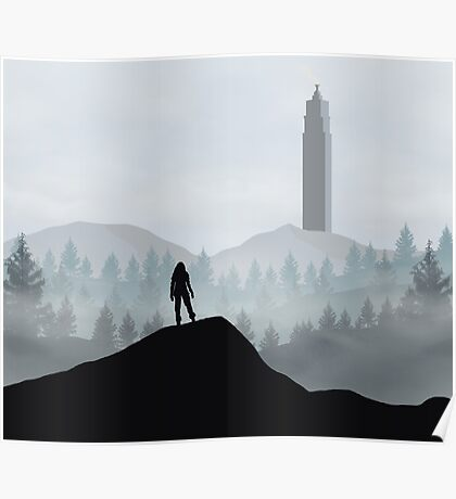 The 100 - Flat Landscape Poster