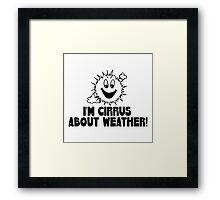 Cirrus Cloud Geek Nerd Framed Print
