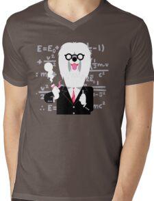 English Sheepdog as Einstein Mens V-Neck T-Shirt