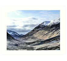 Glencoe HDR , the Highlands , Scotland Art Print