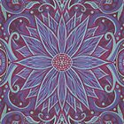 """""""Lavender lotus"""" floral arabesque pattern by clipsocallipso"""