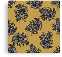 Abstract seamless pattern with bird Canvas Print