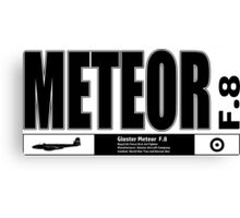 Meteor Jet Fighter Canvas Print