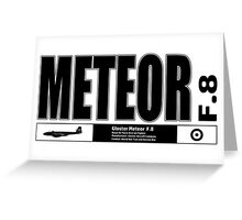 Meteor Jet Fighter Greeting Card