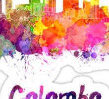 Colombo skyline in watercolor Sticker