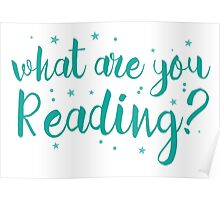 What are you reading? Poster