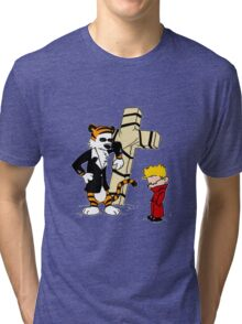 Calvin & Hobbes - StackedImages Tri-blend T-Shirt