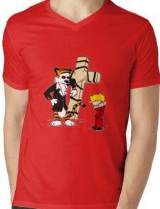 Calvin & Hobbes - StackedImages Mens V-Neck T-Shirt