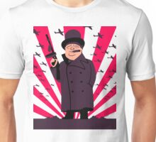 Churchill with a Tommy Gun Unisex T-Shirt