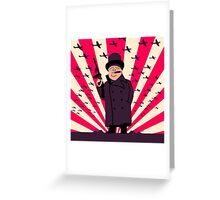 Churchill with a Tommy Gun Greeting Card