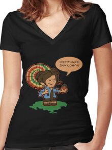 Firefly Everything's Shiny Women's Fitted V-Neck T-Shirt