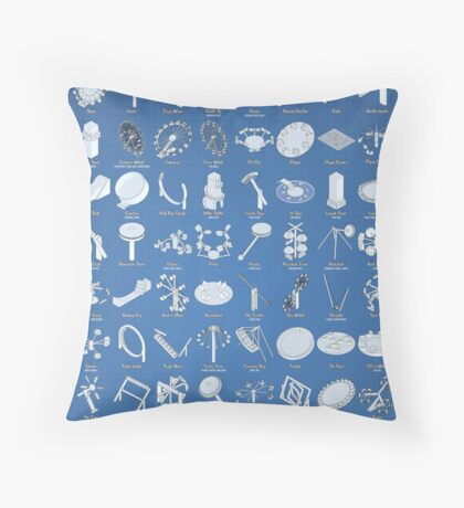 The Theme Park Guide to Flat Rides Throw Pillow