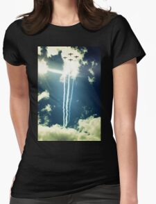 Formation in the Sky Womens Fitted T-Shirt