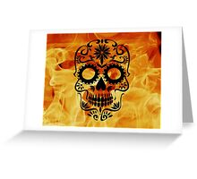 Fire Skull Greeting Card