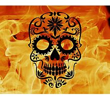 Fire Skull Photographic Print