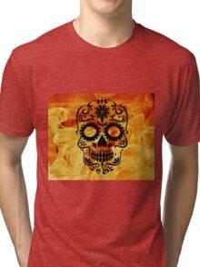 Fire Skull Tri-blend T-Shirt