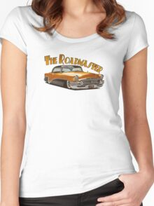 1955 Buick Roadmaster - Orange 3 Women's Fitted Scoop T-Shirt