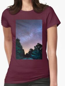 Forest Night Light Womens Fitted T-Shirt